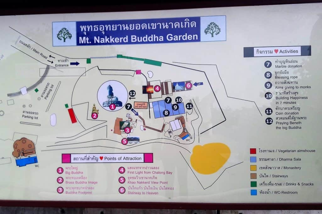 big buddha guide map
