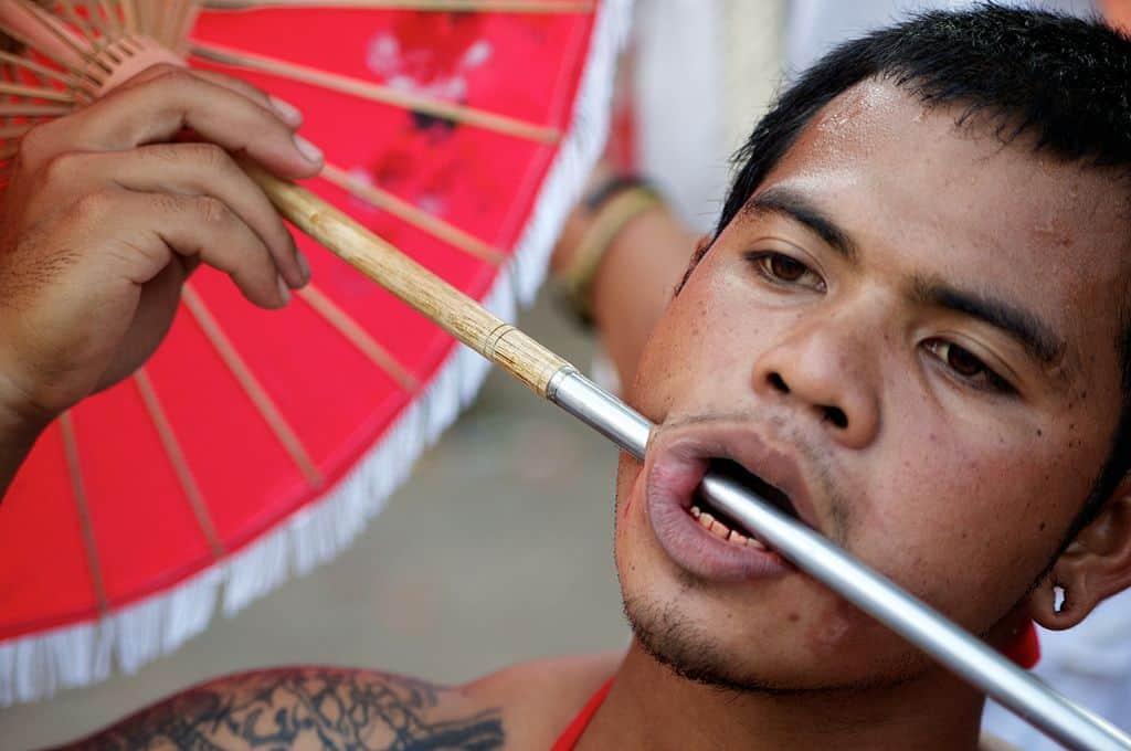 face piercing phuket vegetarian festival